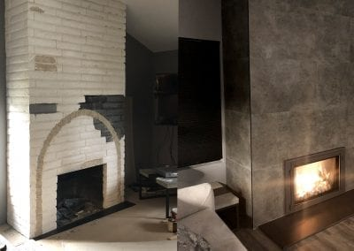 Four Day Fireplace - Before & After